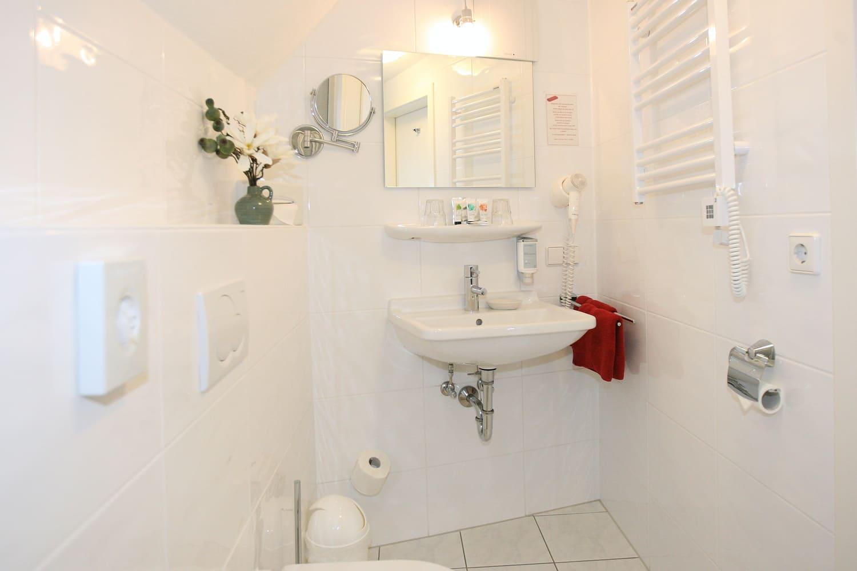 Grüne Suite 2 Obergeschoss Badezimmer