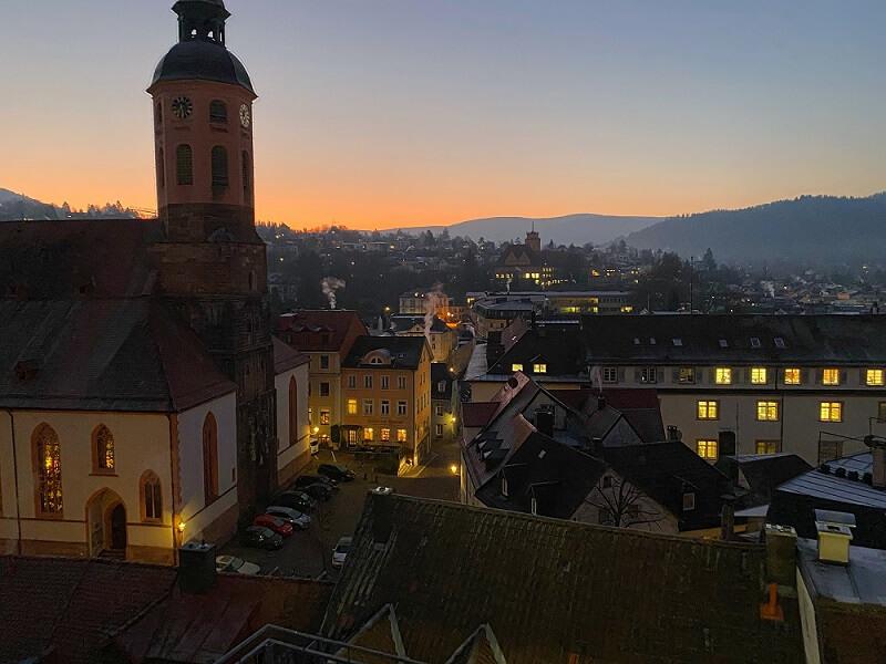 Marktplatz Sonnenaufgang