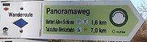 Panoramawanderweg Schild