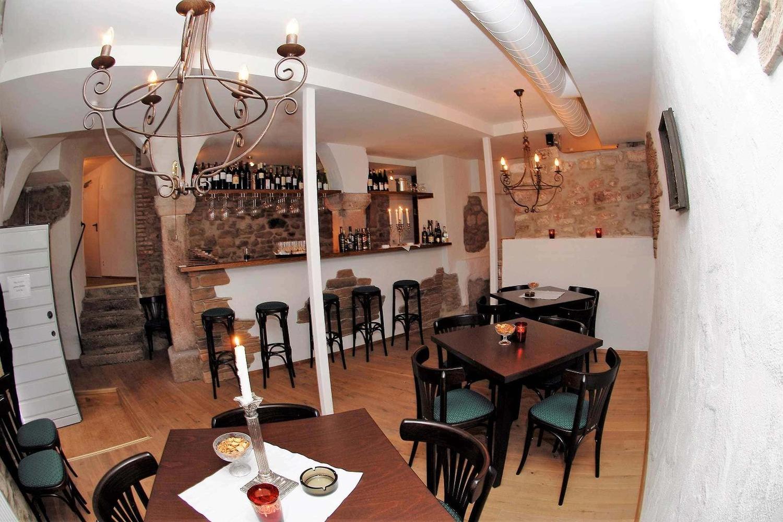 Weinbaransicht im Hotel Rathausglöckel